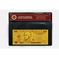 Wholesale 10 USD 24k Gold Dollar Bill from china suppliers