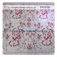 Wholesale Flowers wreathed with vine Polyester&Cotton Burnout Lace Fabric  for dress/ladies garment from china suppliers