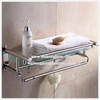 Wholesale Irregular Shape Bathroom Single Shelf with 6mm Clear Tempered/Toughened Glass from china suppliers