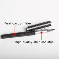 China Luxury Real Carbon fiber Fountain pen for gift pen accept Customized Logo on sale
