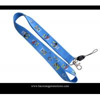 Wholesale Full blue colors heat transfer printed lanyard for sale, custom sublimation lanyards from china suppliers