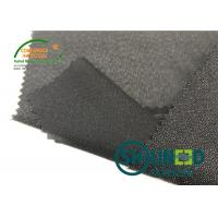 Wholesale Lightweight Twill Woven Lining Water Jet Polyester Interfacing Black Color from china suppliers