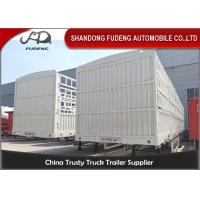 Wholesale 3 Axles Cattle Transport Q345B 50T Side Wall Semi Trailer from china suppliers