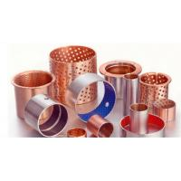 Buy cheap Boundary Lubricating Bronze Flanged Sleeve Bearings , Teflon Flange Bushing from wholesalers
