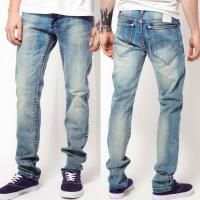 China High quality men jeans wash artwork denim jeans   on sale