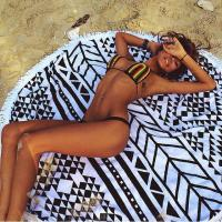 Wholesale Most hot selling microfiber round beach towel Cotton round beach towel samll MOQ customize from china suppliers