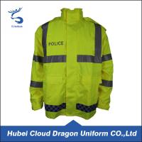 Fluorescence Hi Vis Waterproof Jacket / Winter Safety Jackets Reflective