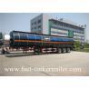 Carbon steel 3 axles large capacity fuel / oil / diesel tanker