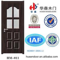 China flush interior pvc door with glass on sale