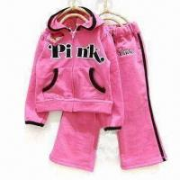 China Girl's Knitwear/Track Suit/Fleece Suit, Customized Colors are Welcome on sale