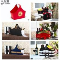 Hotel supply Leather pu baskets for gifts and hamper
