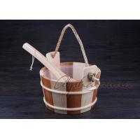 Buy cheap Bottomless Sauna Bucket And Ladle Set Including Plastic Liner For Dry Sauna Accessories from Wholesalers