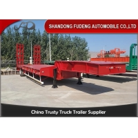 Buy cheap Steel 3 Axle 80 Tons Gooseneck Low Bed Semi Trailer from wholesalers