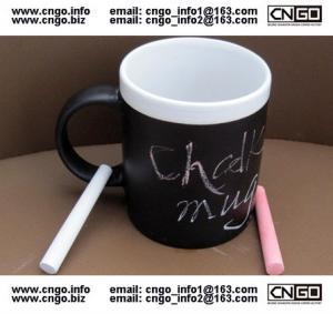Wholesale Glazed/Porcelain fashion Chalk Mug wholesale11oz Ceramic Chalk Mugs popular chalk mug from china suppliers