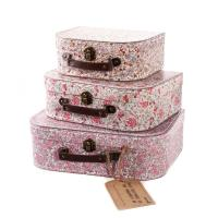 Wholesale Grey Board + Coated Paper Pink Cardboard Suitcase Box For Packaging Gift / Jewelry from china suppliers