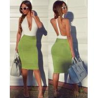 Quality Anti - Wrinkle Deep V Neck Party Dress For Party / Club / Celebrity for sale
