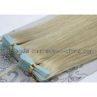 Long Straight PU Tape Hair European Blonde Color (EM063) for sale