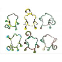 China Rainbow Silicone Rubber Bands, Silly Bracelets Monkey Pattern For Children OEM on sale