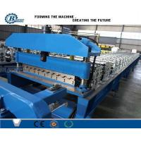 China Customized Metal Roofing Roll Forming Machine Color Coated Surface Treatment on sale