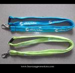 Wholesale Cheap Custom 15*900mm green polyester lanyard Silkscreen printing logo from china suppliers