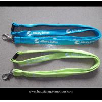 Wholesale Cheap Custom 15*900mm green polyester lanyard Silkscreen printing logo from china suppliers