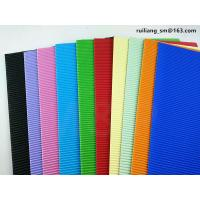 Lake Blue Corrugated Paper Sheets Kindergarten Construction Paper Eco Friendly