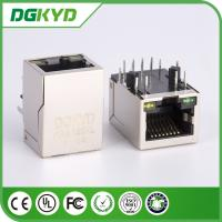 PCB Network RJ45 Modular Jack with Filter, LED Tab Down side entry HR911103A
