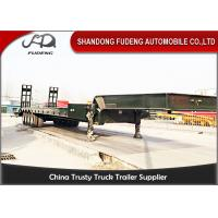 Wholesale 4 Axles Lowboy Equipment TrailersHigh Strength Steel Material 40T To 100T Payload from china suppliers