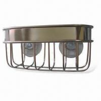Wholesale Suction Cup Basket with Electrolyze Finish, Made of 304 Stainless Steel and PVC from china suppliers