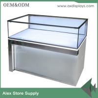 China Phone accessories mobile mdf wood shop decoration shop counter design cabinet displays on sale