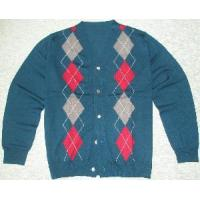 Wholesale Men′s Knitted Cardigan, Argyle Sweater, Long Sleeve (SFY-A077) from china suppliers