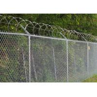 China Chain Link Fence Top With Barbed Wire Or Razor Wire In High Security on sale