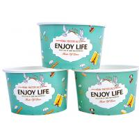 Wholesale Colourful To Go Branded Ice Cream Cups Food Grade With 6- Colour Printing from china suppliers