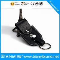 Wholesale High-grade black color PU leather keychain bag from china suppliers