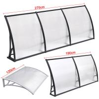 China Durable Solid Polycarbonate Awning , PC Door Canopy Patio Cover Long Life Span on sale