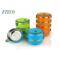 Wholesale Insulated Stainless Steel Food Containers , Portable Multi Layer Lunch Box from china suppliers