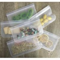 Wholesale Lead Free Reusable Ziplock Bags For Snacks Fruit Storage / Leak Proof Lunch Bag from china suppliers