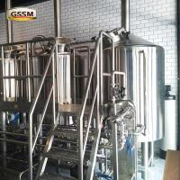 Commercial 220V / 380V Pub Brewery Systems With Three Vessels , 20 BBL Brewhouse