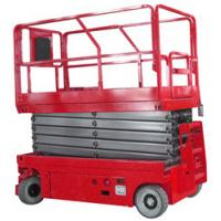 Buy cheap Electric Aerial Work Platform 9m Red Self Propelled Scissor Lift Table with from wholesalers