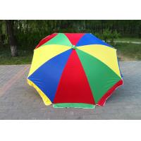 China Multicolor 40 Inch Outdoor Parasol Umbrella With Customized Printing Logo on sale