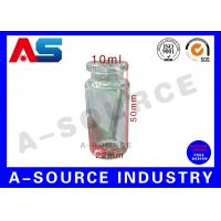 Buy cheap Tubular Miniature Glass Bottles Blue Amber Glass Bottles With Secure Rubber Lids from Wholesalers