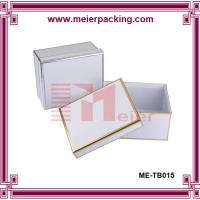 China Decorated book shaped rigid paper keepsake box with hot stamping frame wholesale on sale