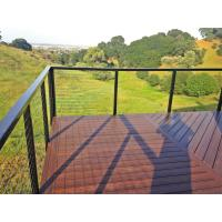 Wholesale Black Stainless steel inox railing cable railing with top handrail for terrace/ deck from china suppliers