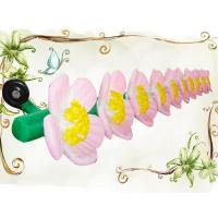 10m Decorative Inflatable Flower String for Wedding and Stage