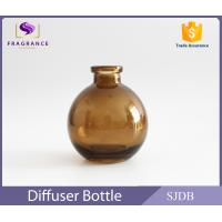 Buy cheap Aromatic Reed Diffuser Glass Bottle 200ml Flat Round Colored Thin Neck from Wholesalers