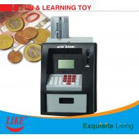 China ATM piggy bank electronic toy for kid present Blue/White Color USD currency recoginition ABS plastic with VIP bank card on sale