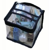 Wholesale Multi Functional Cosmetic Storage Organizer Bags Square Shaped With Clear PVC Vinyl Material from china suppliers