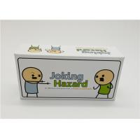 Laminated Type Joking Hazard Card Games For Teens Recyclable Waterproof