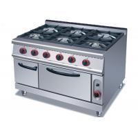 Wholesale Security Cooking Lines Free Standing Gas Range With 4 / 6 European Burners from china suppliers