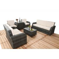 Wholesale 6 PCS Chair Back Adjustable Rattan Sofa Set With Powder Coated Steel Frame from china suppliers
